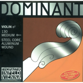 Corda RE (D) per violino Dominant Nylonkern Medium